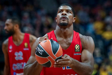 Berlin, Germany, October 25, 2019: basketball player Kyle Hines of CSKA Moscow during the EuroLeague basketball game Alba Berlin vs CSKA Moscow at Mercedes Benz Arena in Berlin, Germany.