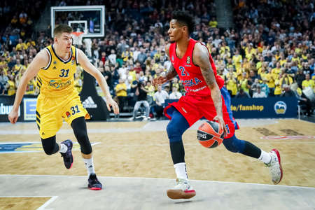 Berlin, Germany, October 25, 2019: basketball player Will Clyburn in action during the EuroLeague basketball game between Alba Berlin and CSKA Moscow at Mercedes Benz Arena in Berlin