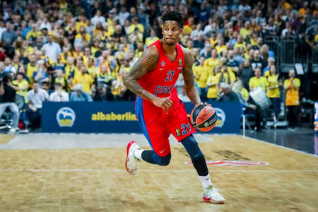 Berlin, Germany, October 25, 2019: Will Clyburn of CSKA Moscow in action during the EuroLeague basketball match between Alba Berlin and CSKA Moscow at Mercedes Benz Arena