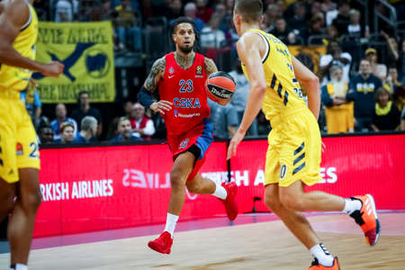 Berlin, Germany, October 25, 2019: Daniel Hackett of CSKA Moscow in action during the EuroLeague basketball match between Alba Berlin and CSKA Moscow at Mercedes Benz Arena in Berlin