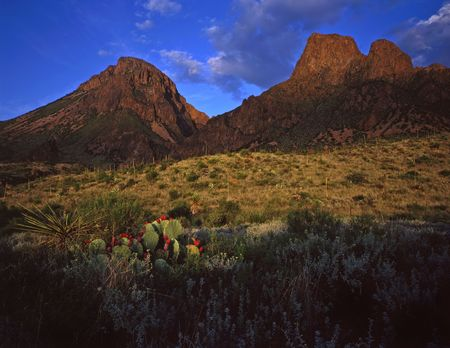 The Chisos Mountains in Big Bend National Park, Texas. Stock Photo