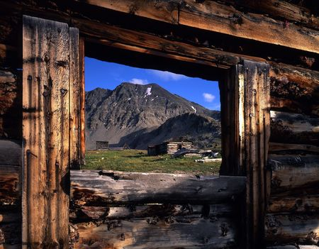 A ghost town in the Colorado Mountains.