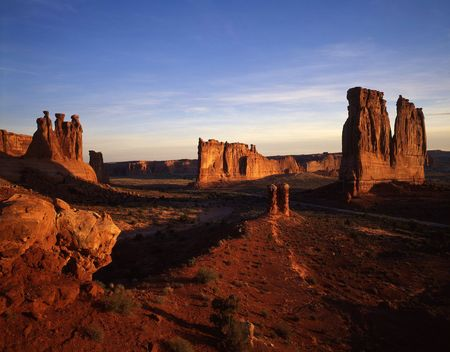 Court House Wash in Arches National Park, Utah. Stock Photo - 686592