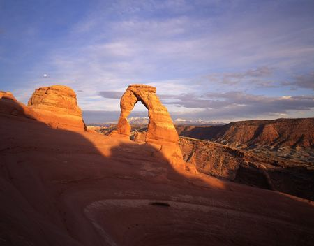 Delicate Arch in Arches National Park, Utah. Stock Photo - 690487