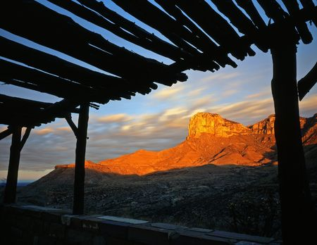 Guadalupe Mountains National Park, in west Texas, photographed at sunrise. photo