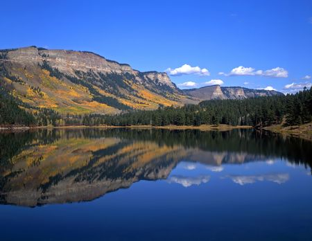 Havaland Lake in the San Juan National Forest of Colorado.