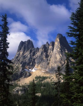 Liberty Bell Mountain in the Okanogan National Forest of Washington State. Stock Photo