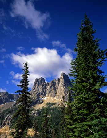 Liberty Bell mountain in the Okanogan National Forest in Washington State.