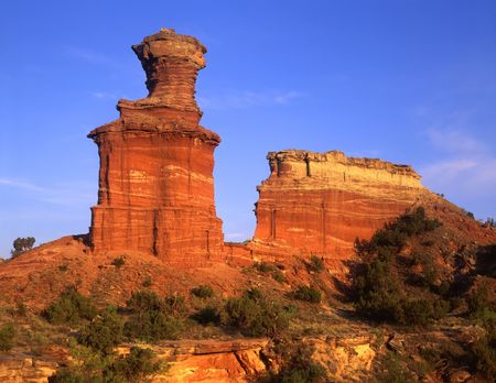 The Lighthouse Formation in Palo Duro Canyon State Park, Texas.