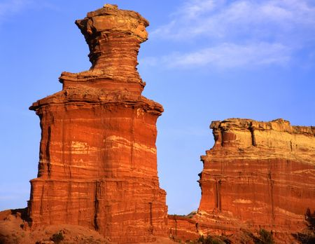 duro: The Lighthouse formation in Palo Duro Canyon State Park, Texas.