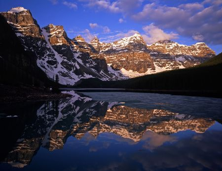 Moraine Lake in Banff National Park, Alberta, Canada. photo