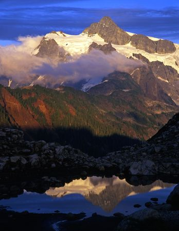 washington state: A glacier on Mt. Shuksan located in the North Cascades National Park of Washington State.
