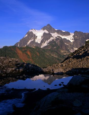 Mt. Shuksan in North Cascades National Park located in Washington State. Stock Photo - 717838
