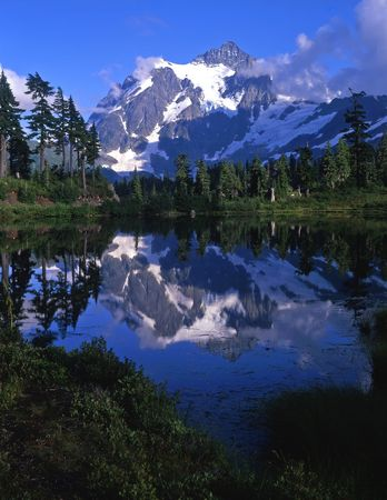 Mt. Shuksan in North Cascades National Park located in Washington State.