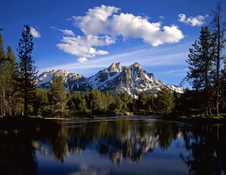 Mt. McGown in the Sawtooth National Forest of Idaho. Stock Photo