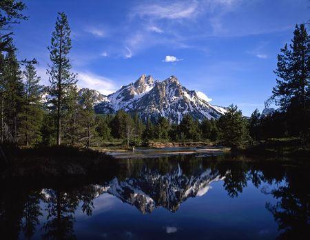 national forest: Mt. McGown en el diente de sierra Bosque Nacional de Idaho.  Foto de archivo