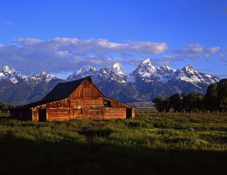 A barn in Grand Teton National Park, Wyoming.