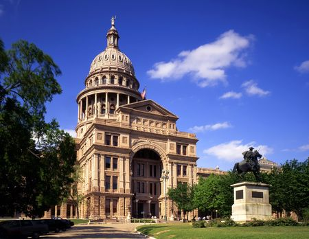 The Texas State Capitol Building in Austin, Texas. Stock Photo