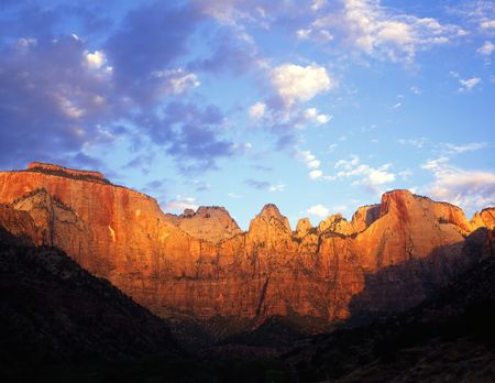 Towers of the Virgin in Zion National Park, Utah. Stock Photo - 729894