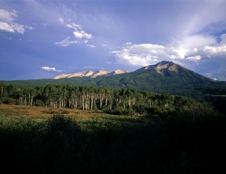West Beckwith Mountain in the Gunnison National Forest, in Colorado,  photographed during the summer. Stock Photo - 742432