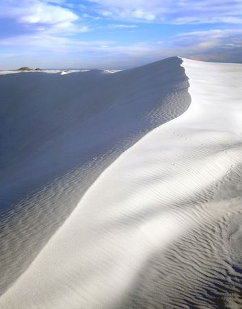 A white sand dune in White Sands National Monument, New Mexico. Stock Photo - 742427