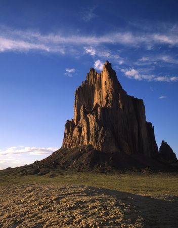 Shiprock in northwest New Mexico. Stock Photo