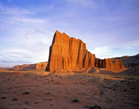Temple of the Sun in Capitol Reef National Park, Utah. Stock Photo - 755005