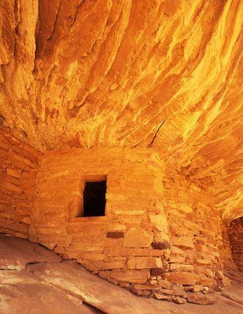 anasazi: Una struttura indiana abbandonata di Anasazi in canyon del sud del mulo, Utah.