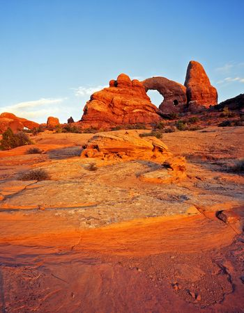 Turret Arch in Arches National Park, Utah. Stock Photo - 760746