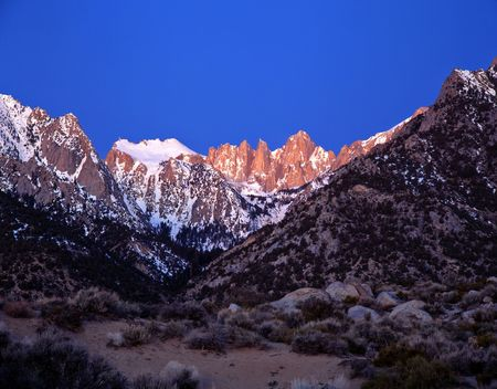 Mt. Whitney, the tallest mountain in the lower 48 states, in California. photo