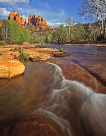 Cathedral Rock in Oak Creek Canyon in the Coconino National Forest, Arizona. Stock Photo