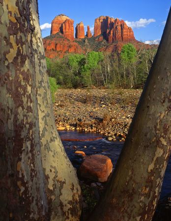Cathedral Rock and Oak Creek, in the Coconino National Forest, near Sedona, Arizona.
