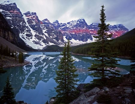Moraine Lake in Banff National Park located in Alberta, Canada.