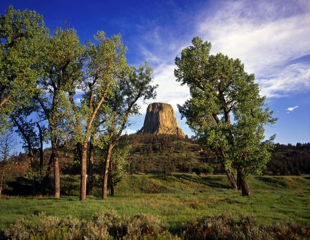 Devils Tower National Monument, located in Wyoming. photo