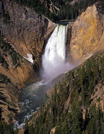 El Lower Falls del río Yellowstone en el Parque Nacional de Yellowstone, Wyoming.  Foto de archivo - 814075