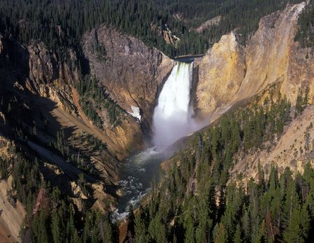 The Lower Falls of the Yellowstone River in Yellowstone National Park, Wyoming. Stock Photo - 814076