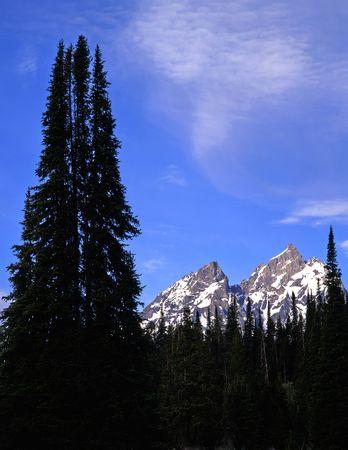 The peaks of the Grand Teton Mountain Range in Grand Teton National Park, Wyoming. Stock Photo - 814085