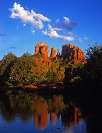 Cathedral Rock and Oak Creek Canyon near Sedona, Arizona. Stock Photo - 814679