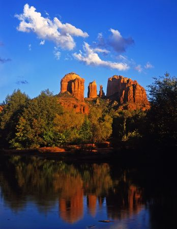Cathedral Rock and Oak Creek Canyon near Sedona, Arizona.