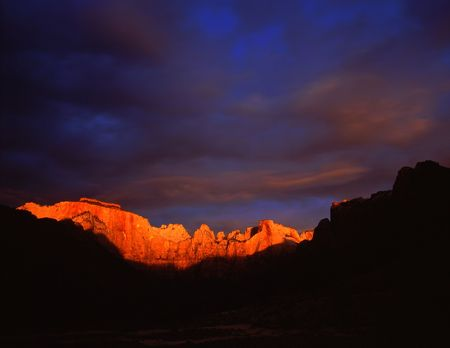 Towers of the Virgin in Zion National Park, Utah. Stock Photo - 814684