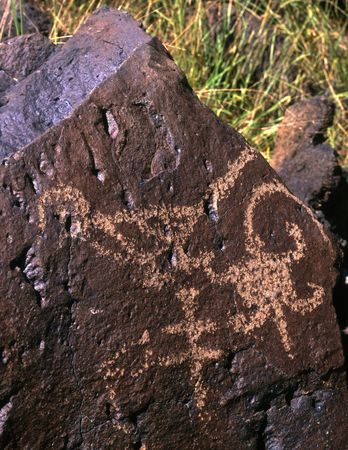 An Indian Petroglyph in Rinconada Canyon located in Albuquerque, New Mexico. Stock Photo - 814685
