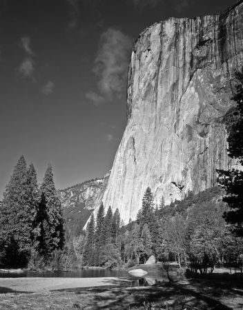 The El Capitan formation in Yosemite National Park, California. Stock Photo - 814687
