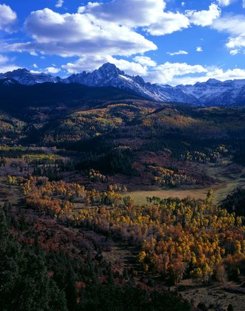 Mt. Sneffels in the Uncompahgre National Foreast, Colorado. Stock Photo
