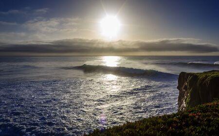 Morning waves on Steamer Lane, Santa Cruz, California USA