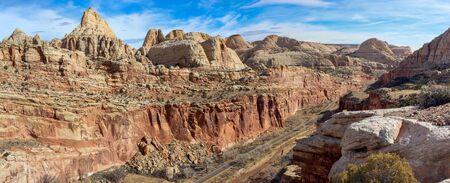 A view from the Cohab Canyon trail in Capitol Reef National Park, Utah, USA