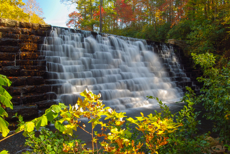 Dam along Blue Ridge Parkway in Virginia