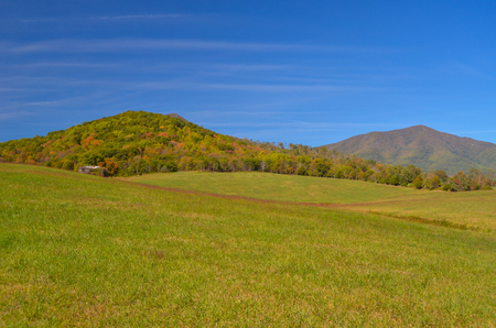 Peaks of Otter Mountains in Bedford County, Virginia Stock Photo - 106228657