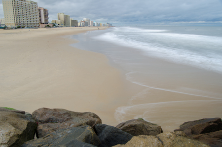 Hotels along the Virginia Beach oceanfront on a cloudy day Stock Photo