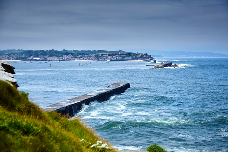 Pointe Saint Barbe of Saint Jean de Luz, Basque Country. Atlantic Coast.