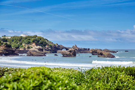 Biarritz, France. French resort city on the coast of the Atlantic Ocean